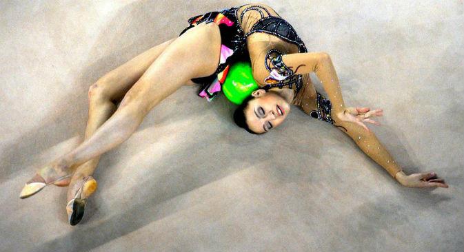La ginnasta russa Evgenia Kanaeva (Foto: Itar-Tass)