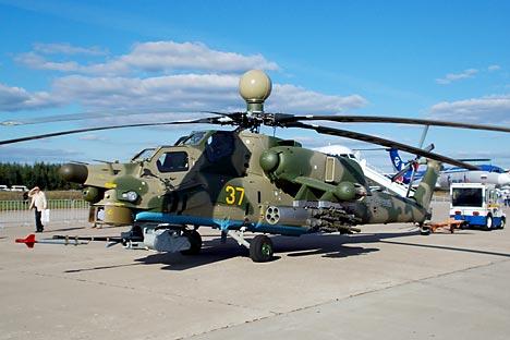 Grandi occasioni locali e internazionali al Maks 2013 per il gruppo statale Rostech. Nella foto il Mi-28N (Credit: Boris Egorov)
