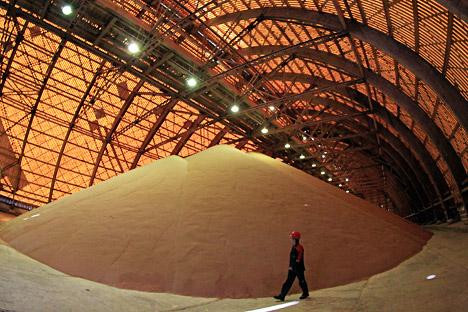 All'interno della miniera di potassio della Uralkali, nella città di Berezniki, nella regione di Perm, Monti Urali (Foto: Reuters)