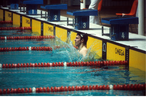 Il nuotatore Vladimir Salnikov, divenuto uno dei miti dello sport dell'Unione Sovietica negli anni Ottanta (Foto: Itar Tass)