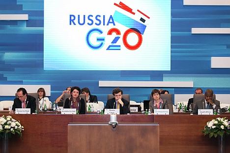 La Russia è diventata il primo Paese tra quelli che hanno presieduto il G20 ad aver organizzato il gruppo allargato Labor20 e dato il via al meeting dei ministri del Lavoro e delle Finanze del G20 (Foto: G20/Ufficio Stampa)