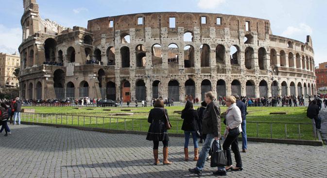 Secondo uno studio, il 45 per cento dei pacchetti venduti in Russia dai tour operator nel 2013 riguardava viaggi in Italia (Foto: Itar-Tass)