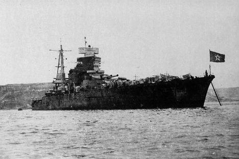 """La nave da battaglia """"Novorossiysk"""", inizialmente chiamata """"Giulio Cesare"""" (Fonte: Wikipedia)"""