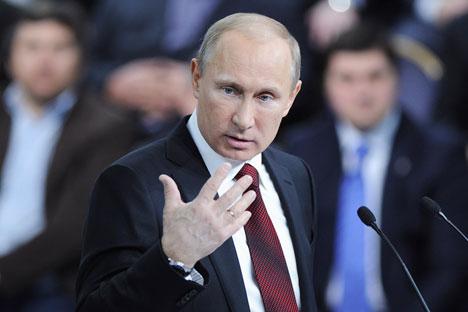 Il Presidente della Federazione Russa Vladimir Putin (Foto: Reuters / Vostock Photo)