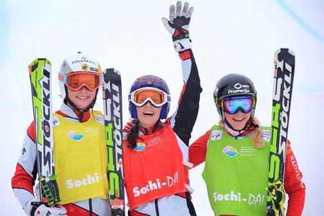Concorrenti della Coppa del Mondo 2013 di sci di fondo hanno avuto occasione di provare in anteprima le infrastrutture di Sochi, pronte per i Giochi Olimpici invernali del 2014 (Foto: Ufficio Stampa)
