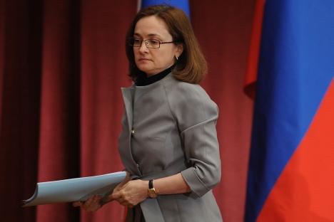 Elvira Nabiullina, governatore della Banca Centrale russa, ex ministro per lo Sviluppo economico dal 2007 al 2012 e consigliere del Presidente (Foto: Itar-Tass)