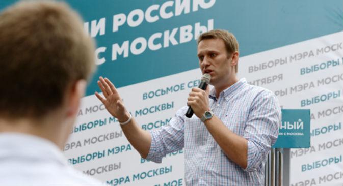 """Alexei Navalny è alle prese con il processo d'appello per il """"caso Kirovles"""" (Foto: RIA Novosti)"""