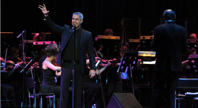 Il tenore italiano Alessandro Safina in tour in Russia (Foto: Itar-Tass)