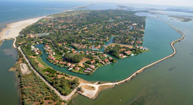 L'isola di Albarella, in provincia di Rovigo, è meta di russi in cerca di affari (Foto: www.albarella.it)