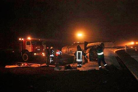 I soccorsi sul luogo della tragedia (Foto: twitter.com/russia2tv)