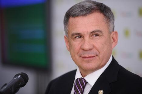 Rustam Minnikhanov, presidente del Tartastan (Fonte:Ufficio Stampa)