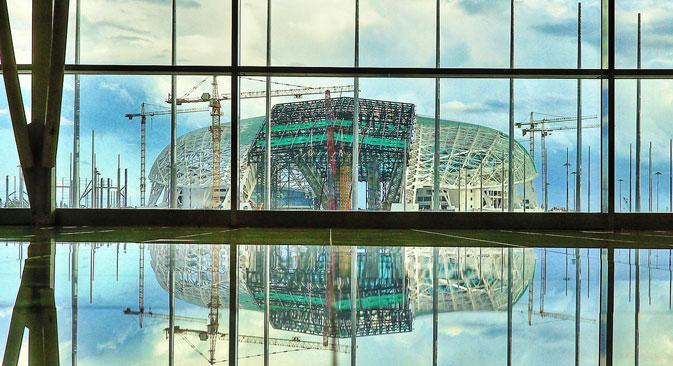 Lo stadio olimpico sarà utilizzato anche per i mondiali di calcio del 2018 (Fonte: Press Photo)