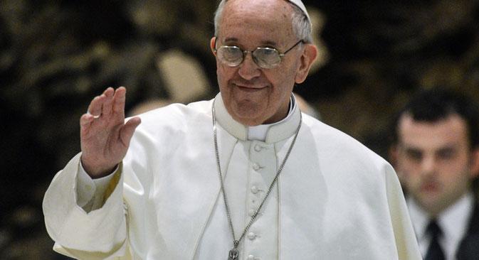Papa Francesco ha ricevuto il Presidente russo Vladimir Putin in Vaticano (Foto: Ria Novosti)