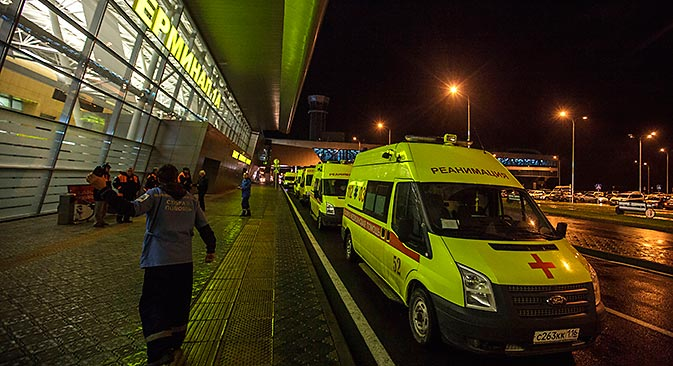 I soccorsi sul luogo della tragedia (Foto: Valentin Elagin / Ria Novosti)