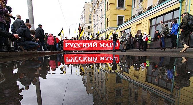 Secondo gli organizzatori della Marcia, il movimento di anno in anno starebbe raccogliendo sempre maggiori adesioni (Foto: Itar Tass)