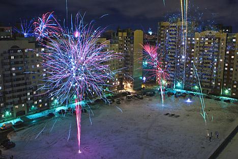 Fuochi d'artificio in strada (Foto: Ria Novosti)
