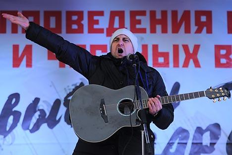 Durante la stagione di proteste che ha interessato Mosca e molte città della Russia, diversi cantanti sono saliti sul palco (Foto: Itar Tass)