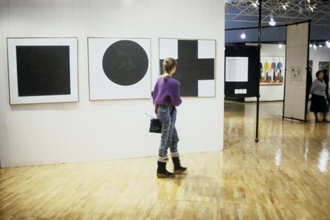 """Il """"Quadrato nero"""" di Malevich venne dipinto in piena guerra mondiale. Ma la sua idea risaliva a qualche anno prima (Foto: Yuri Somonov / Ria Novosti)"""