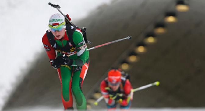 La campionessa di Biathlon Darja Domratschawa (Fonte: Ap)