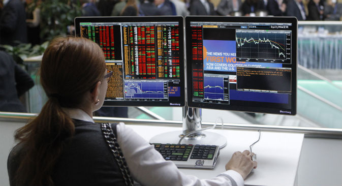 Operatori finanziari in allerta dopo la dichiarazione fatta dalla Banca di Russia, secondo la quale Master-Bank non sarebbe l'unico istituto di credito finito nella lista nera (Fonte: Alexei Kudenko/Ria Novosti)