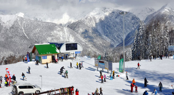 Krasnaya Polyana durante la stagione invernale (Foto: Lori Images)