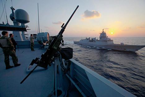 La Federazione Russa è anche responsabile della sicurezza dei materiali trasportati a bordo delle navi in partenza dal porto siriano (Foto: AP)