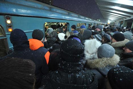 Folla nella metropolitana di Mosca (Foto: PhotoXPress)