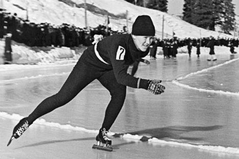 La campionessa sovietica di pattinaggio di velocità Lidia Skoblikova (Foto: Ria Novosti)