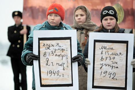 Estratti dei diari di coloro che vissero l'assedio di Leningrado (Foto: Vadim Zhernov / RIA Novosti)