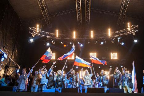 """Come inno ufficiale dei Giochi Olimpici è stata scelta la canzone """"Igry, kotorye my zasluzhili vmeste s toboy"""" (Foto: imago/east news)"""