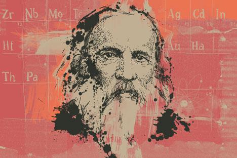 Dmitrij Mendeleev. Disegno di Natalia Mikhaylenko