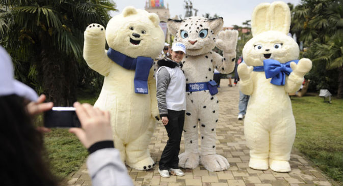 Le mascotte dei Giochi di Sochi (Foto: PhotoXPress)