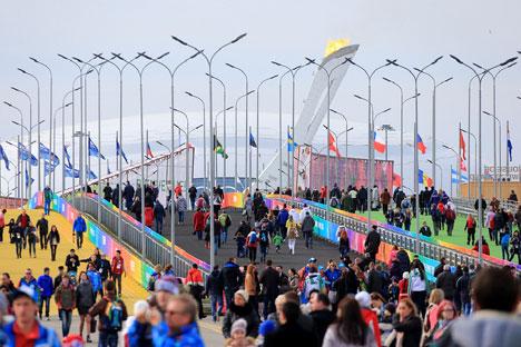 Invasione di tifosi e volontari a Sochi (Foto: flickr.com/sochi2014)