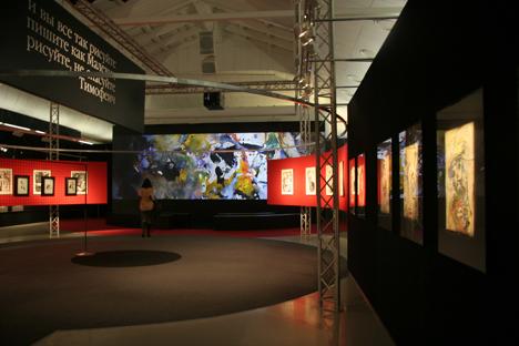 Le opere di Anatolij Zverev in mostra a Mosca (Foto: Tatiana Shramchenko)