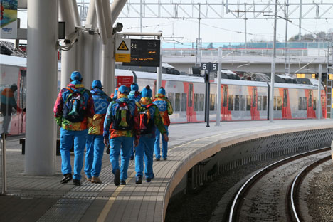 Volontari a Sochi (Foto: Igor Zarembo / RIA Novosti)