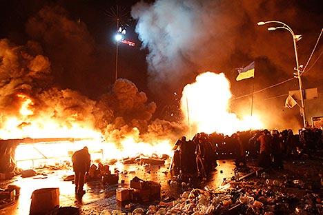 Netta la posizione di condanna della Russia nei confronti delle violenze che stanno scuotendo l'Ucraina (Foto: Reuters)