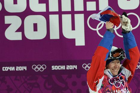 Il russo Aleksandr Smyshlyaev ha conquistato la medaglia di bronzo nella finale maschile del freestyle gobbe (Foto: Ramil Sitdikov / RIA Novosti)