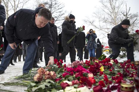I cittadini di Yuzhno-Sakhalinsk sotto shock (Foto: Itar Tass)