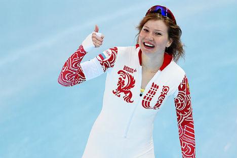 Olga Fatkulina, medaglia d'argento nei 500 m pattinaggio di velocità femminile (Foto: Vladimir Baranov /RIA Novosti)