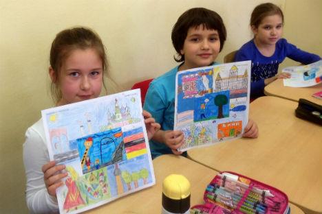 I bambini di una scuola russa che hanno partecipato al progetto (Foto: archivio personale)