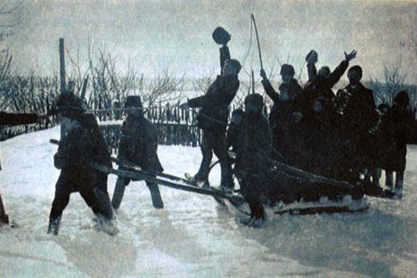 Festeggiamenti per la Maslenitsa (Foto di archivio)