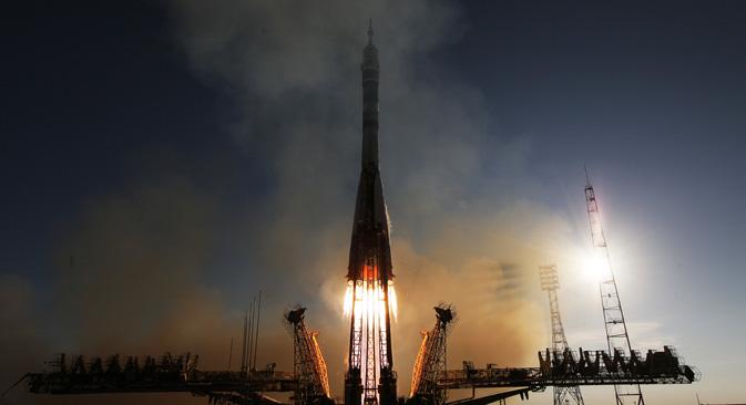 Un lancio al cosmodromo di Bajkonur (Foto: Ria Novosti)