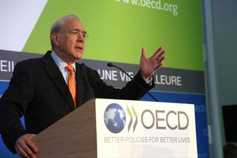 L'OCSE è considerata una delle piattaforme internazionali più convenienti per la Russia,grazie alla quale sarebbe possibile ottenere reali vantaggi economici (Foto: Herve Cortinat / OECD)