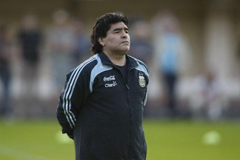 Diego Armando Maradona (Foto: Aleksandr Vilf / Ria Novosti)