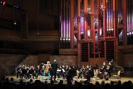 "L'orchestra nazionale da camera dei ""Virtuosi di Mosca"" (Foto: Itar Tass)"