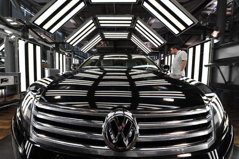 La marca di automobili più apprezzata a Mosca, secondo l'agenzia Avtostat, è la Volkswagen (Foto: Sergei Kusnetsov / Ria Novosti)
