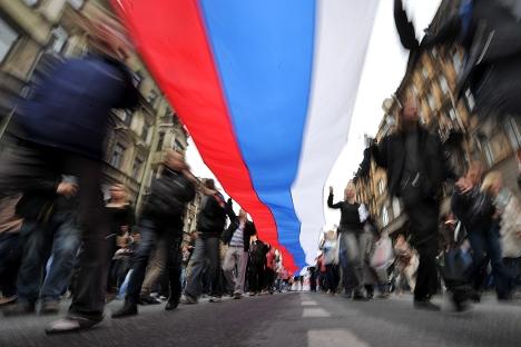 Cresce la percentuale di russi che si definiscono patriottici (Foto: Itar Tass)