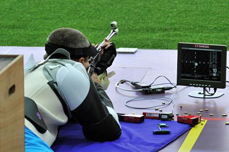 Il campione olimpico di tiro a segno Artur Ayvazyan (Foto: Vladimir Pesnya / Ria Novosti)
