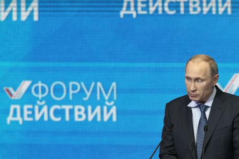 Il Presidente russo Vladimir Putin al Forum economico di San Pietroburgo (Foto: Itar Tass)
