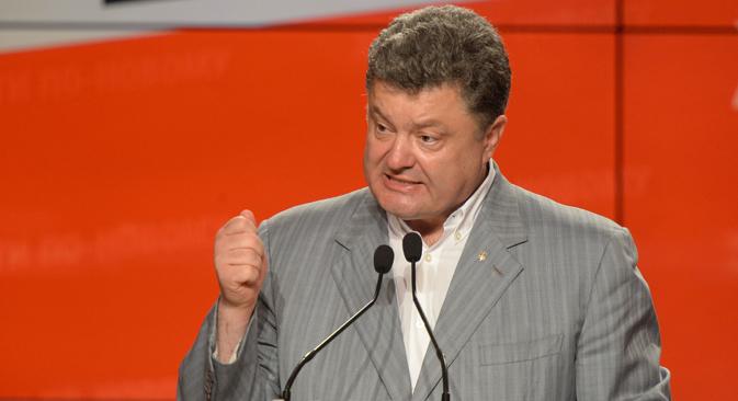 Il neo eletto presidente ucraino Petr Poroshenko (Foto: Mikhail Voskresenski / Ria Novosti)